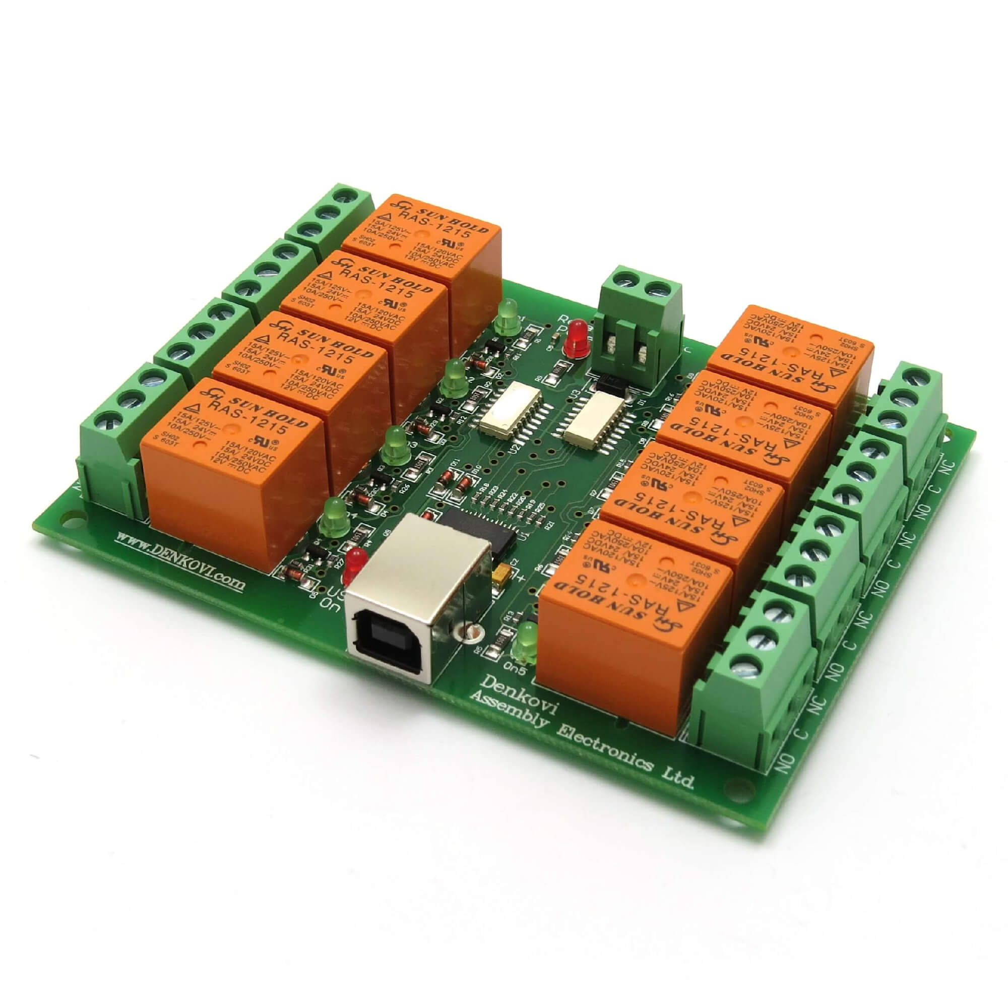 Pc Usb Scheda Otto 8 Canali Rel 12v Software Ebay Electrical Engineering 120vac 10amp Dpdt Relay Question Aquarium Board Controlled