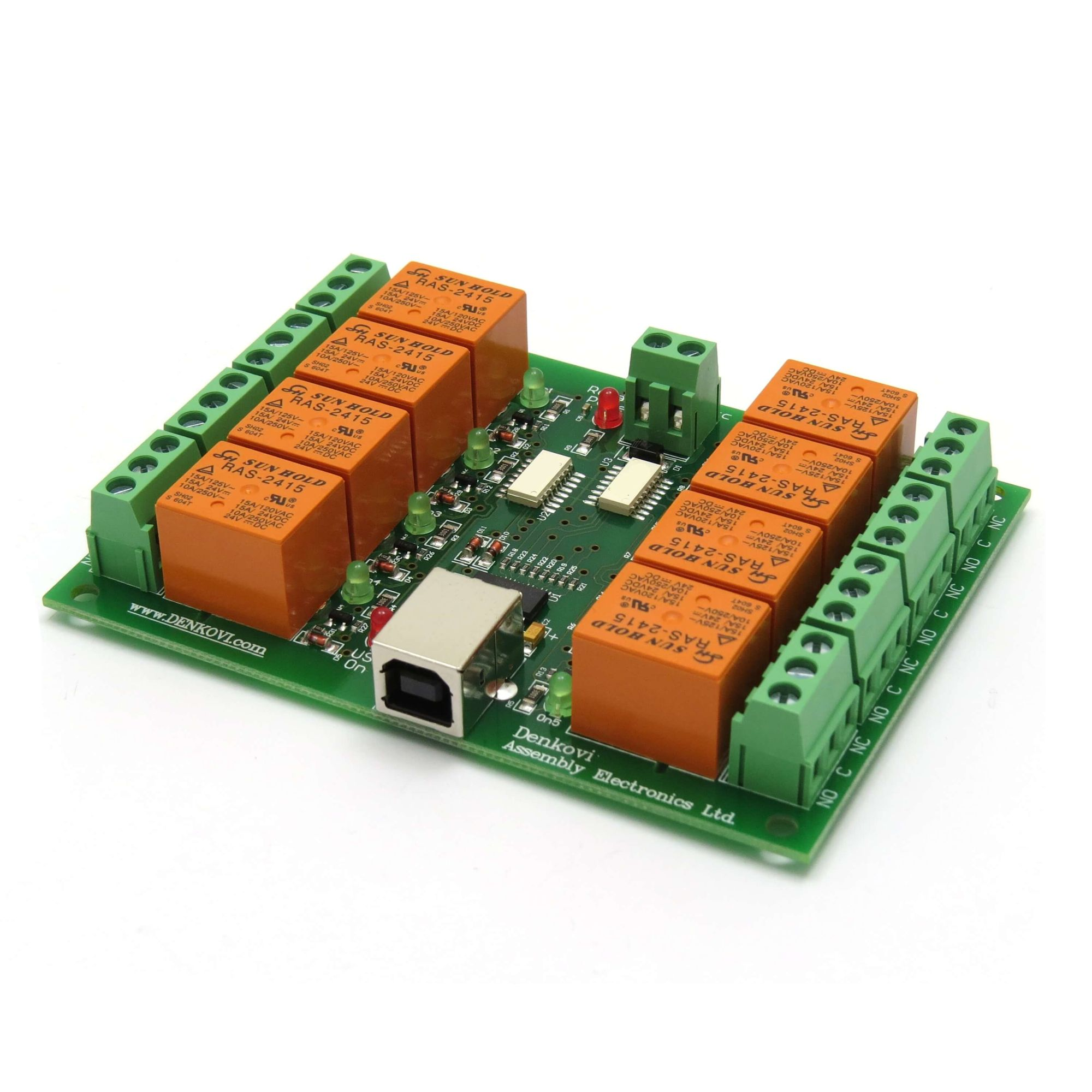 Details about USB 8 Channel Relay Board - Automation, Robotics - 24V