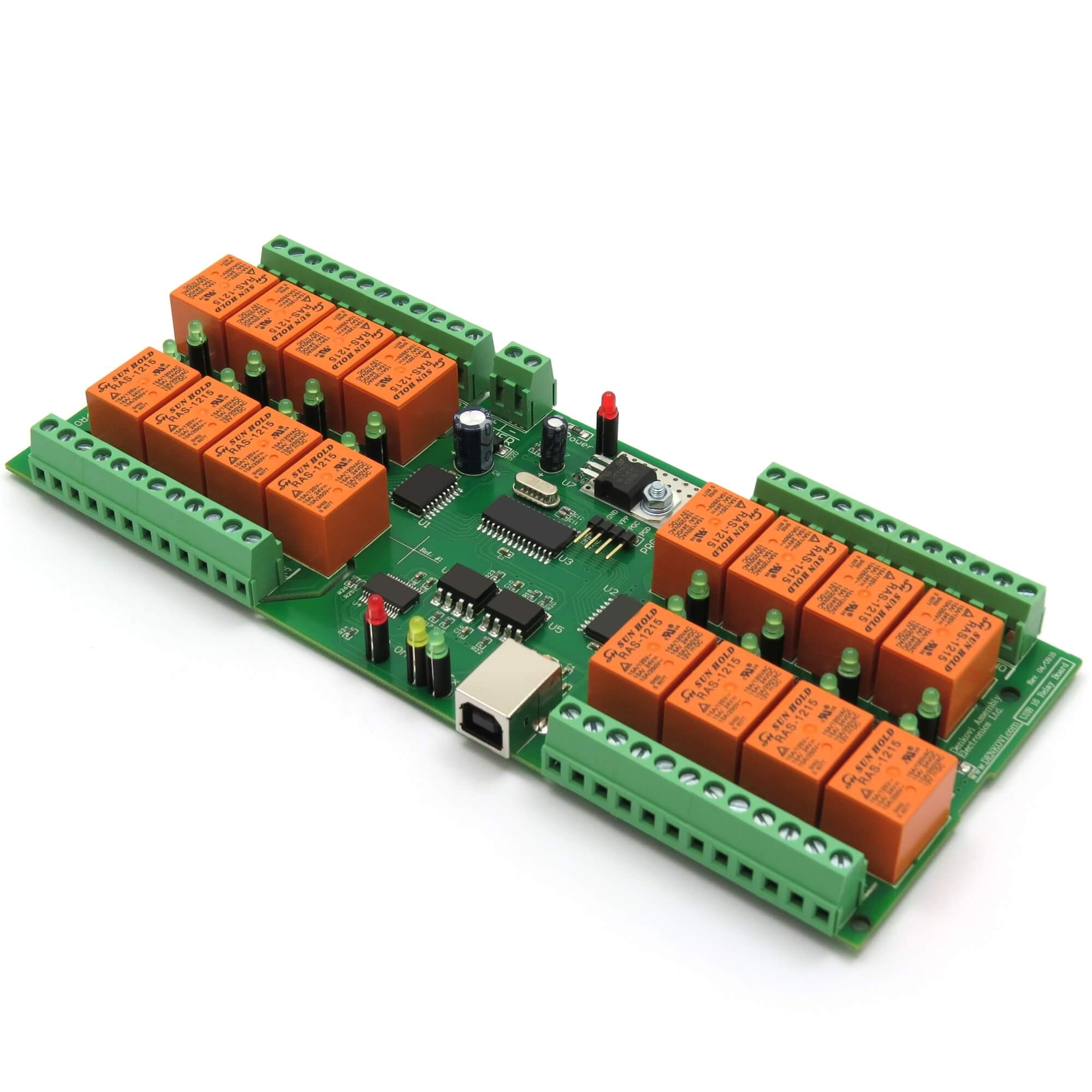 Details about USB Relay Controller 16 Channels - Virtual Serial /COM/ Port,  optical isolation