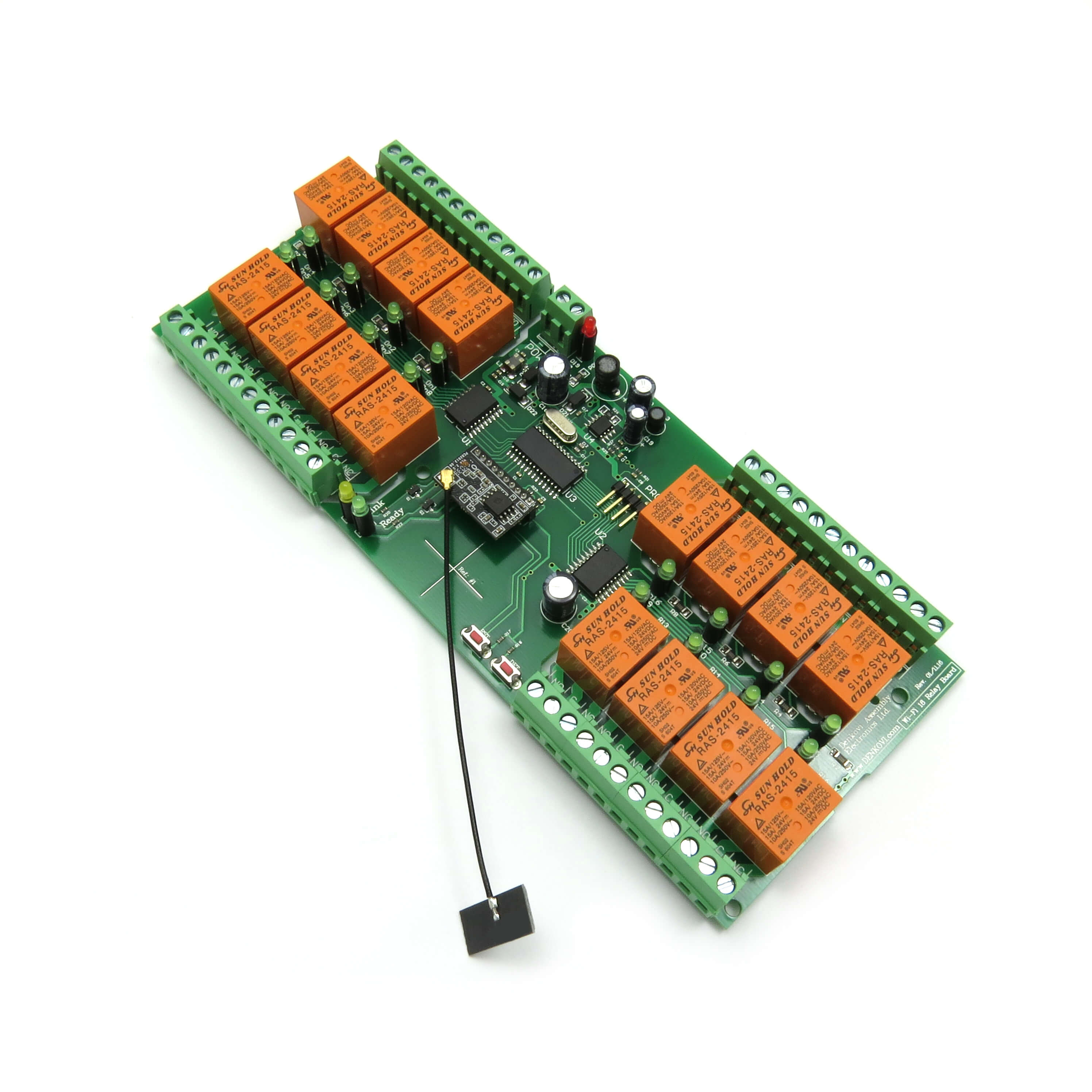 Details about Wireless 802 11 b/g/n 16 Channel Relay Board for Android,  iOS, Windows