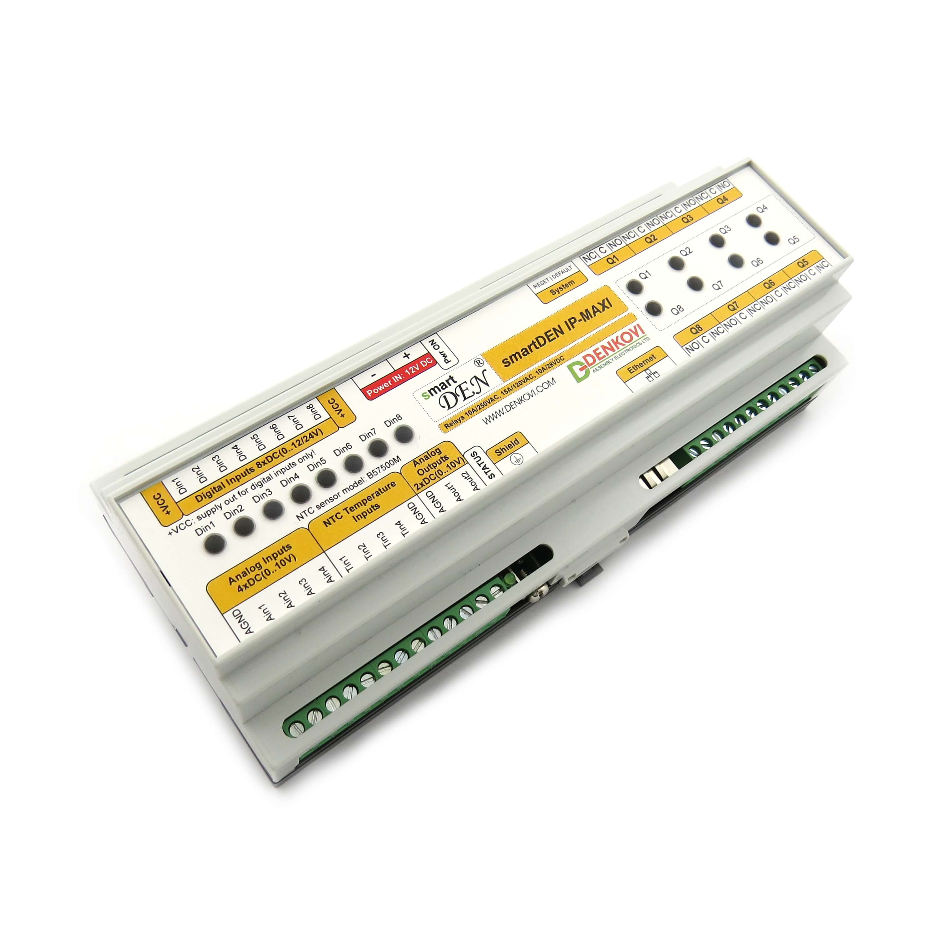 Details about Ethernet Relay controller module - WEB server IP and  Analog/Temperature Inputs