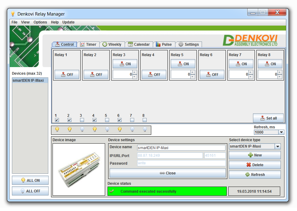 Details about Domoticz / OpenHAB supported Internet/Ethernet Relay I/O  controller module