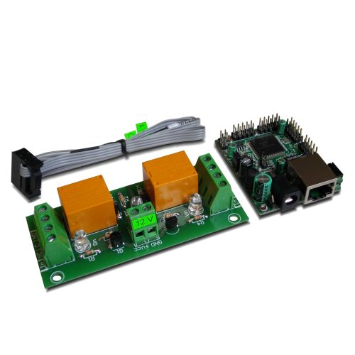 Internet/Ethernet 2 Channel Relay Board - IP, SNMP, Web