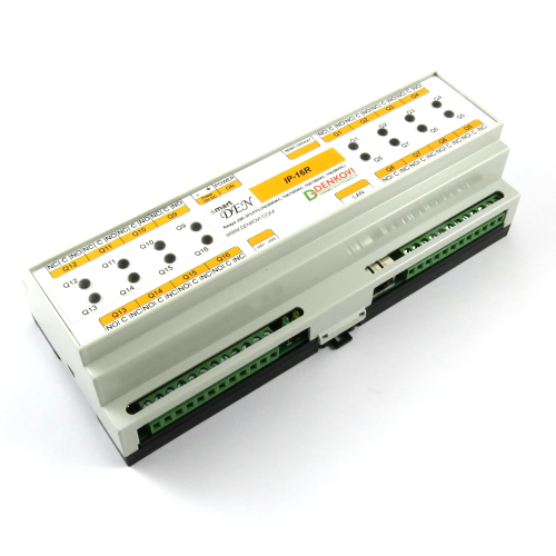 smartDEN LAN Ethernet 16 Relay Module - DIN Rail BOX