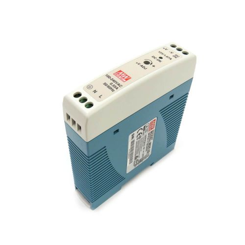 Mean Well MDR-20-12 Industrial DIN Rail Power Supply 12V/1.67A Out