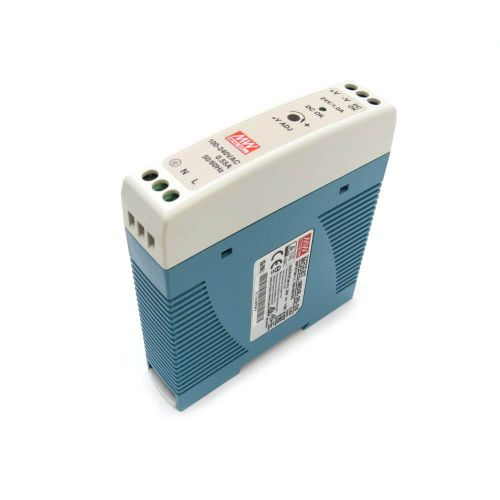 Mean Well MDR-20-24 Industrial DIN Rail Power Supply 24V/1A Out