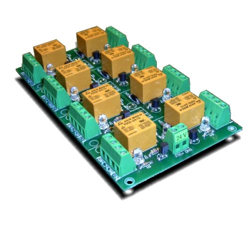8 Channel relay board for your Arduino or Raspberry PI - 24V