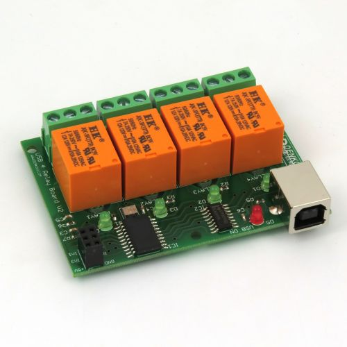 USB Relay Module 4 Channels, for Home Automation - v2