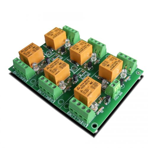 6 Channel relay board for your Arduino or Raspberry PI - 5V