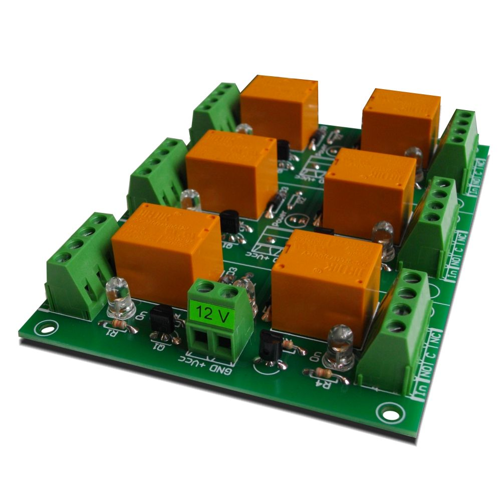 Relay Board 12v 6 Channels For Raspberry Pi Arduino Picavr Circuit Diagram Together With On Dc To Ac Channel Your Or