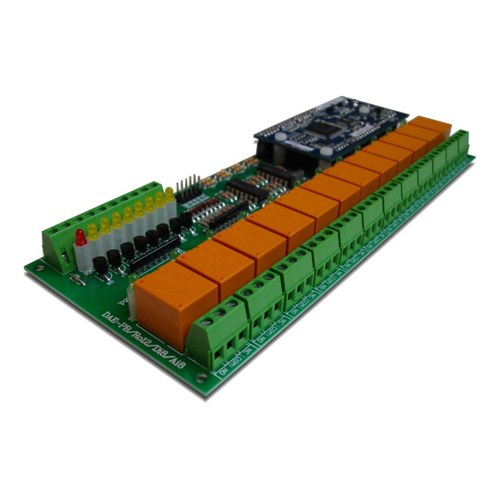 Ethernet I O Relay Module Snmp Web 12 Relays Pcbofdigitaltemperaturesensorcircuitusinglm335z Internet Channel Board