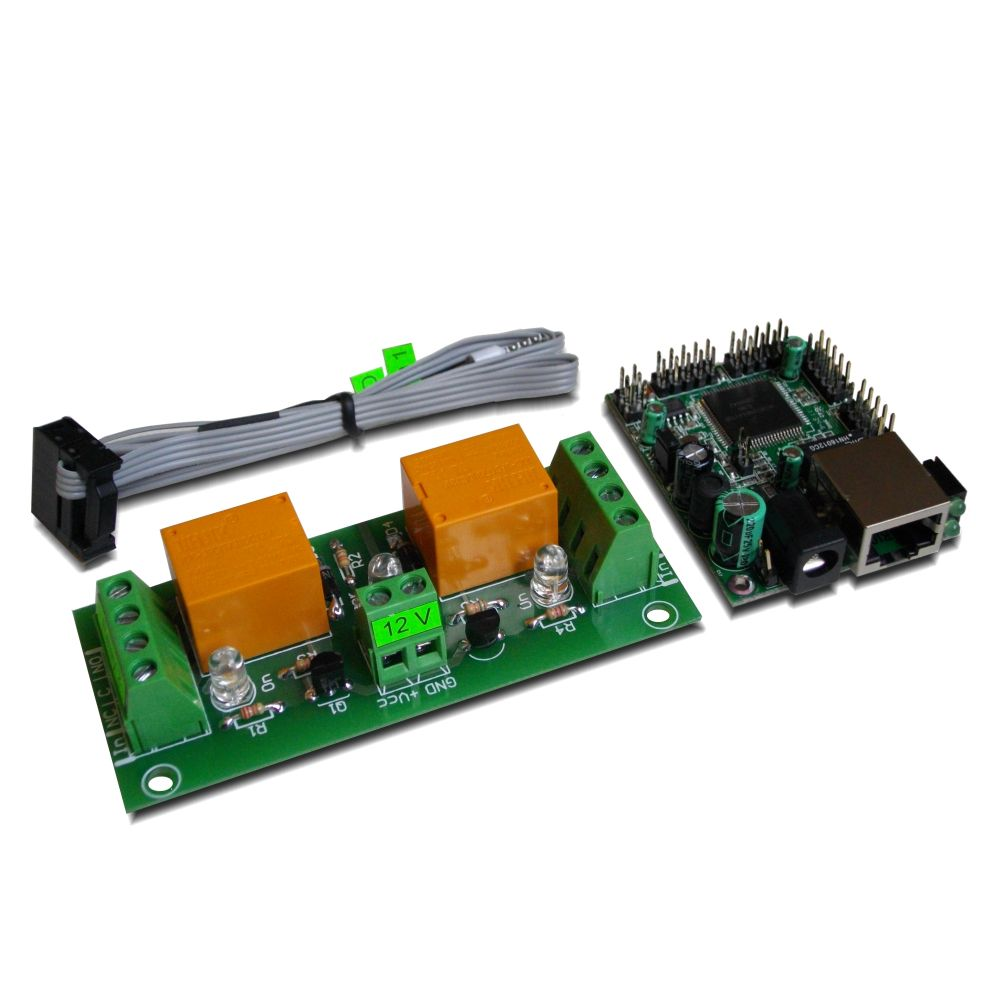 Snmp 2 Relay Board Web Controlled 12 Volt With Remote