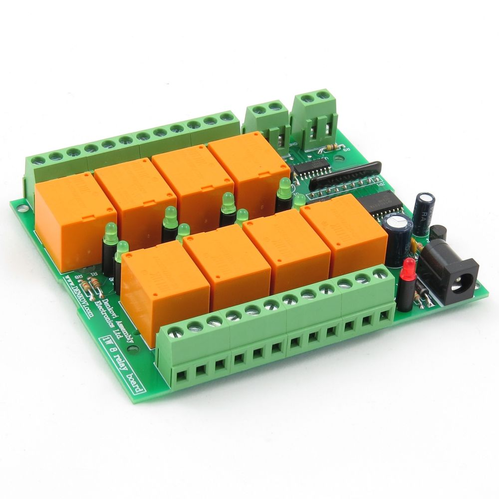 1 Wire Eight Channel Relay Board For Home Automation 12v Spdt Price One Card 8 Channels