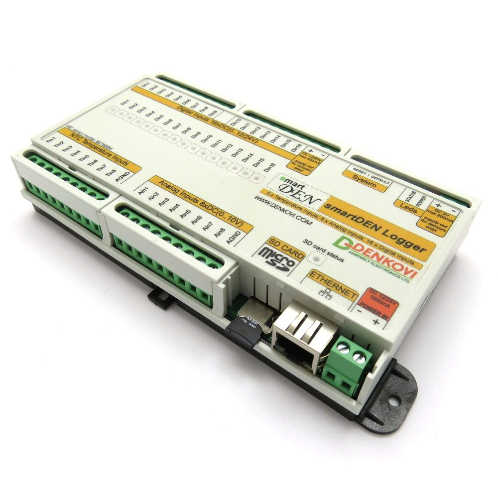 16 Channel Temperature Data Logger Voltage : Smartden logger web enabled temperature datalogger with
