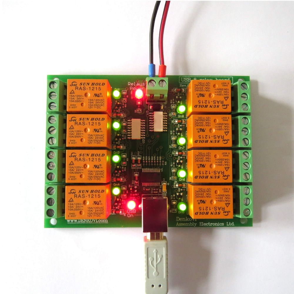 Usb Eight Channel Relay Board For Automation Quality 12 Volt