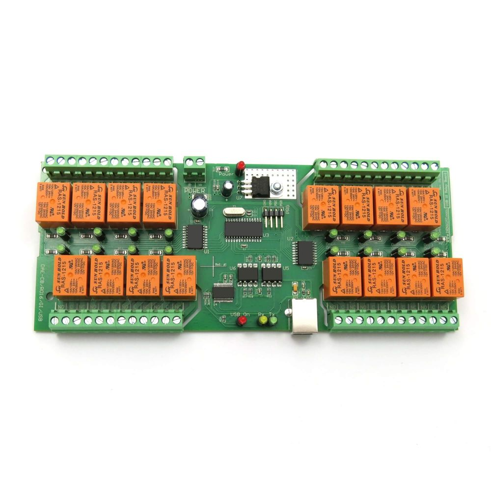 Usb 16 Channel Relay Module Rs232 Controlled Jack Schematic Board For Automation Virtual Com Serial Port
