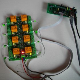 Internet/Ethernet 8 Channel Relay Board - Web, TCP/IP, Telnet, HTTP API, E-mails