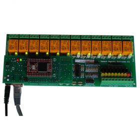 Internet/Ethernet 12 Channel Relay I/O Module - Web, TCP/IP, Telnet, HTTP API, E-mails