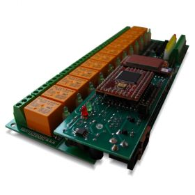Wi-Fi 12 relay module - Web, TCP/IP, Telnet, HTTP API, E-mails