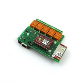 Wi-Fi Relay Card 5 Channel - DAEnetIP3, HTTP/XML API, Real Time Clock