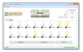 Wi-Fi 16 Relay Board PCB - ModBus TCP