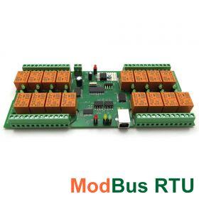 USB 16 Relay Board PCB - ModBus RTU, Timers