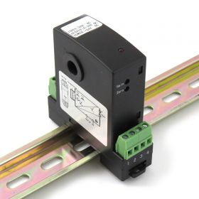 Current Transducer 0-10A DC In, 0-10V DC Out, DIN Mount