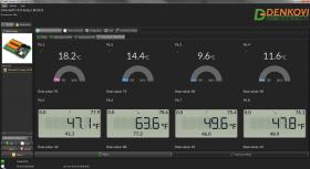 SNMP 8 Relay Module for Temperature Measurement LM35DZ
