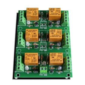 6 Channel relay board for your Arduino or Raspberry PI - 24V