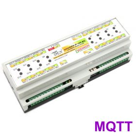 smartDEN MQTT Ethernet 16 Relay Module - DIN RAIL BOX