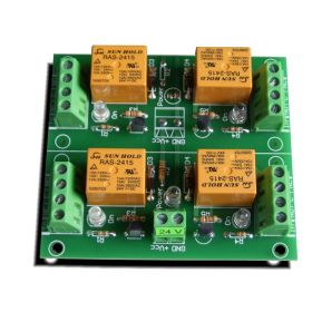 4 Channel relay board for your Arduino or Raspberry PI - 24V