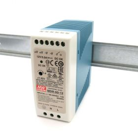 Mean Well MDR-60-12 Industrial DIN Rail Power Supply 12V/5A Out