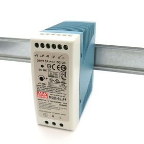 Mean Well MDR-60-24 Industrial DIN Rail Power Supply 24V/2.5A Out